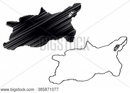 Cuenca City (republic Of Ecuador, Azuay Province) Map Vector Illustration, Scribble Sketch City Of S