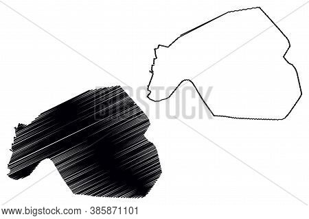 Machala City (republic Of Ecuador, El Oro Province) Map Vector Illustration, Scribble Sketch City Of