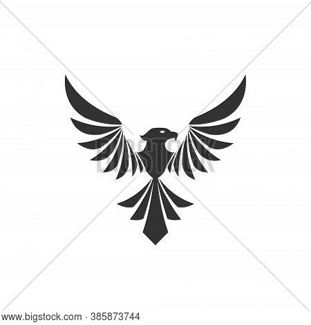 Phoenix Logo Illustration Mascot Blazing Fire Fighter Fantasy Hawk Eagle Predator Burn Flying Hot Fr