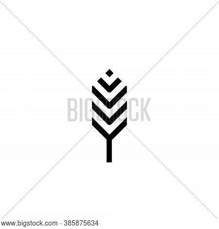 Feather Logo Design Illustration - Bird Vector Plume Smooth Fluffy Wing Fluff Flight Decorative Abst