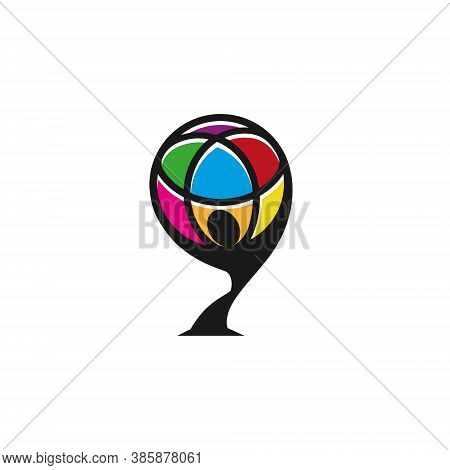 Globe Logo - 3d Earth Planet Travel Abstract Business Internet Web Network International Communicati