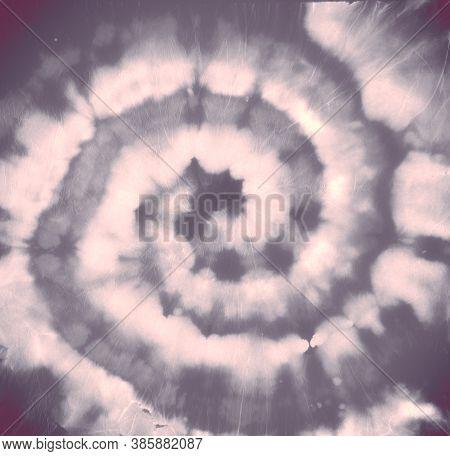 Tie Dye Pattern. Gray Batik Shirt. Water Psychedelic Painting. Tie Die Spiral Backdrop. Grunge Water