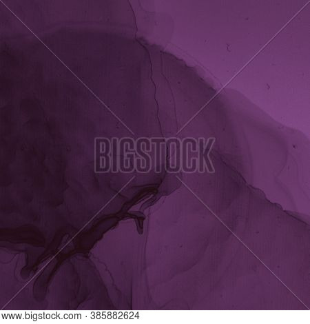 Burgundy Wine Background. Watercolour Winery Template. Modern Painted Stains. Bright Ink Cover. Alco