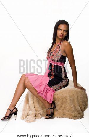 Woman In Pretty Dress