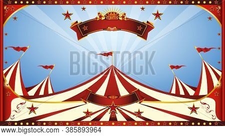 A Circus Background For Your Circus Show.