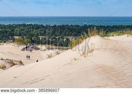 Nida, Lithuania - September 2020: View Of Baltic Sea From Nagliai Nature Reserve In Neringa, Lithuan