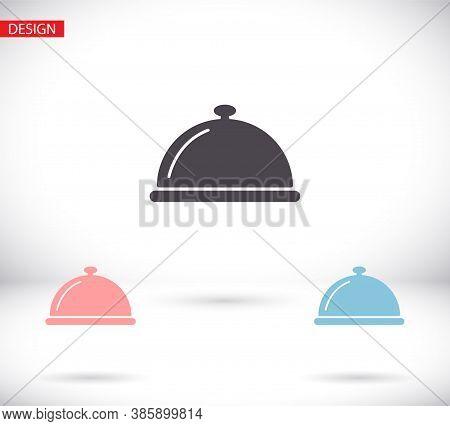 Restaurant Cloche Vector Icon , Design Restaurant Cloche . Illustration Restaurant Cloche . Best Res