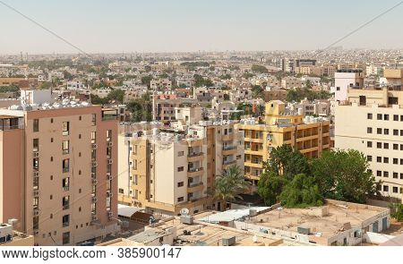 Cityscape Of Aqaba City With Modern Living Houses, Bird Eye View