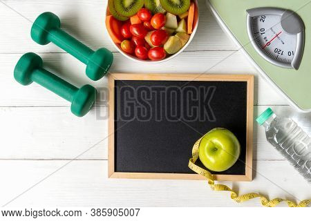 Nutrition Start Up Workout And Diet Health Plan.  Sport Exercise Equipment Workout And gym With Nutr