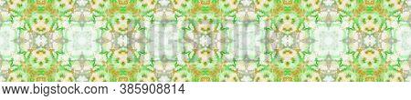 Geometric Rug Pattern. Seamless Tie Dye Illustration. Ikat Indonesian Print. Abstract Kaleidoscope M