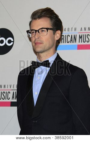 LOS ANGELES - OCT 9: Brad Goreski at the 40th Anniversary American Music Awards nominations press conference at the JW Marriott Los Angeles at L.A. LIVE on October 9, 2012 in Los Angeles, California