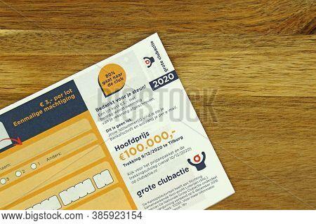 Tilburg, The Netherlands - September 18, 2020: Part Af A Dutch Lottery Ticket \'grote Clubactie\' Ag