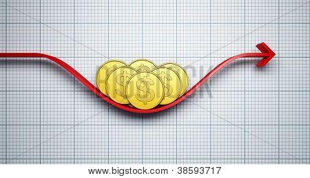 move dollar exchange rate, 3d render