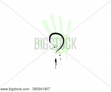 Mystery Icon On White Background In Vector Illustration