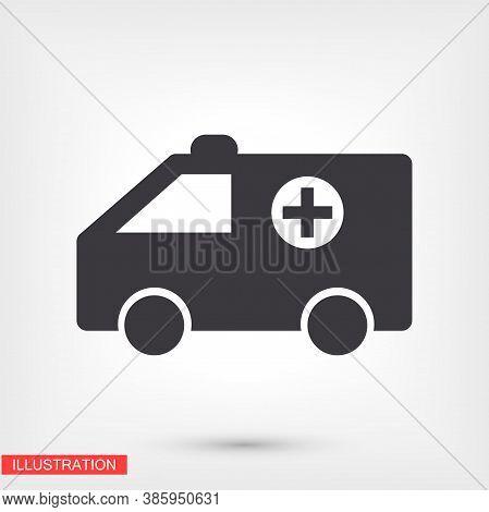 Ambulance Icon. Ambulance Vector Eps 10. Lorem Ipsum Flat Design. Medicine. Help People. Flat Design