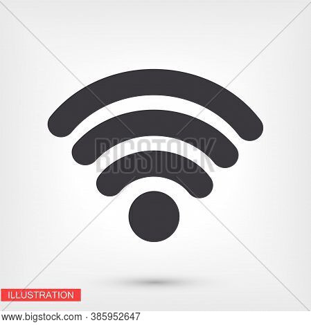 Wi-fi Icon. Vector Wi-fi Eps 10. Wi-fi Icon. Made For Your Phone Site And Use. Wi-fi Flat Design.