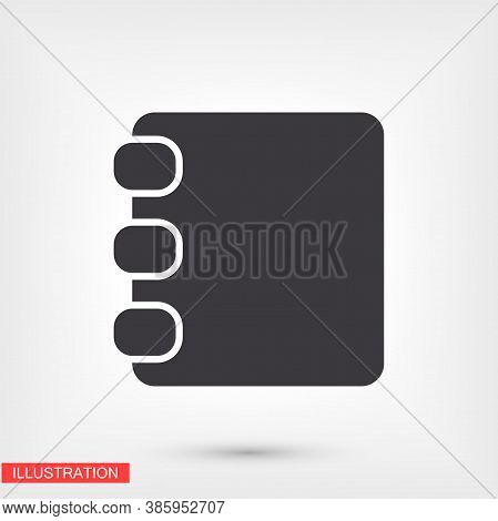 Contacts Book Icon. Contact Book. Vector Eps 10 Icon. The Job Is Done For Your Use. Work With The Ba