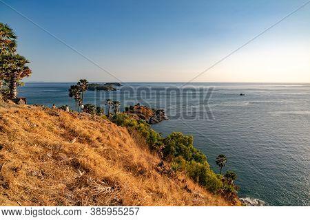 Laem Promthep Cape,beautiful Scenery Andaman Sea In Summer Season,phuket Thailand Beautiful Travel B