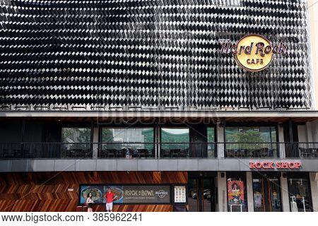 Bangkok, Thailand, Feb 1, 2018: The Logo Sign And Shop Of Hard Rock Cafe At Siam Square Shopping Cen