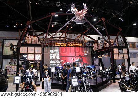 Bangkok, Thailand, April 05, 2018 : Harley Davidson Motorcycle Booth At Bangkok International Motor