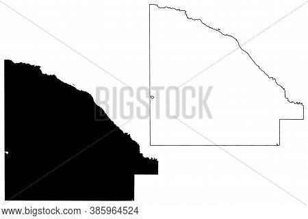 Lac Qui Parle County, Minnesota (u.s. County, United States Of America, Usa, U.s., Us) Map Vector Il