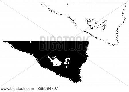 Nicollet County, Minnesota (u.s. County, United States Of America, Usa, U.s., Us) Map Vector Illustr