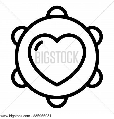Trust Love Musical Instrument Icon. Outline Trust Love Musical Instrument Vector Icon For Web Design