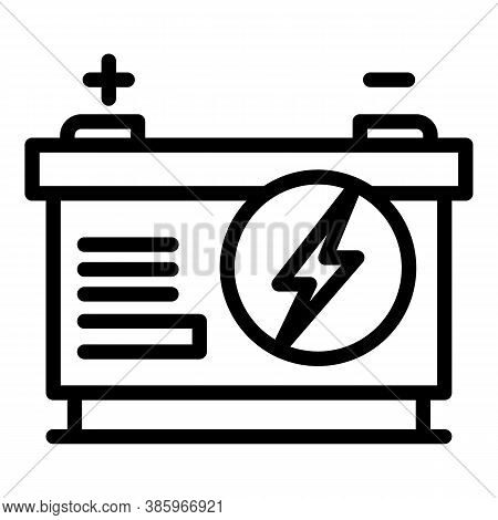 Alkaline Car Battery Icon. Outline Alkaline Car Battery Vector Icon For Web Design Isolated On White