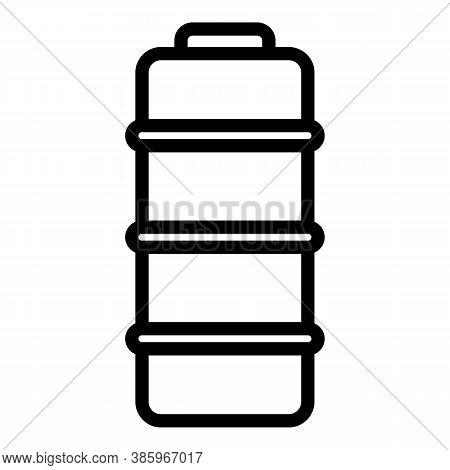 Full Alkaline Battery Icon. Outline Full Alkaline Battery Vector Icon For Web Design Isolated On Whi