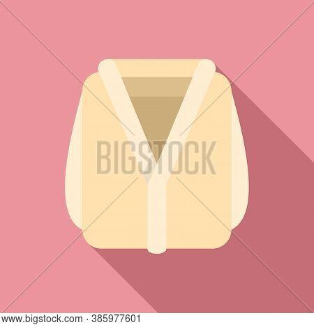 Sauna Bathrobe Icon. Flat Illustration Of Sauna Bathrobe Vector Icon For Web Design