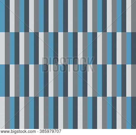 Seamless Pattern With Blue And Light Gray Colored Stripe Geometric Design For Fabric Or Gift Wrappin
