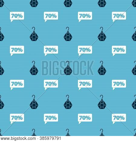 Set Earring And Seventy Discount Percent Tag On Seamless Pattern. Vector