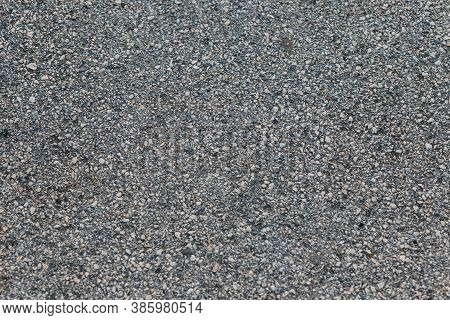 Texture Gray Asphalt Background. Surface Grunge Rough Asphalt. Top View Of Light Grey Asphalt. Aspha