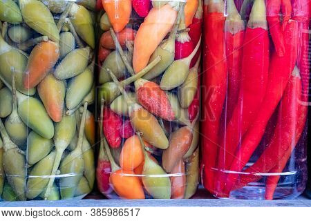 Fresh And Canned Hot Chili Pepper In Cans, Handmade Canned Chili Peppers,