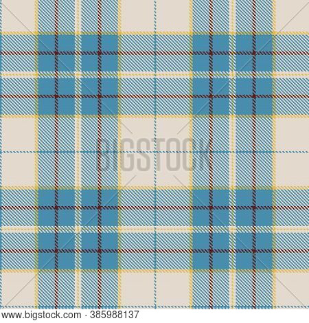 Tartan Cloth Pattern. Chequered Plaid Vector Illustration. Seamless Background Of Scottish Style Gre