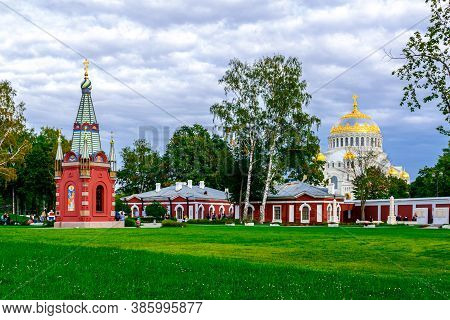 Kronshtadt, Saint Petersburg, Russia - Septermber 5, 2020: The Chapel Of Saints Peter And Paul In Th