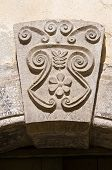 Detail of an historical palace. Sant'Agata di Puglia. Italy. poster