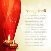 beautiful diwali vector background with space for your text poster