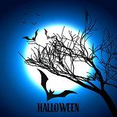 vector scary halloween design art poster