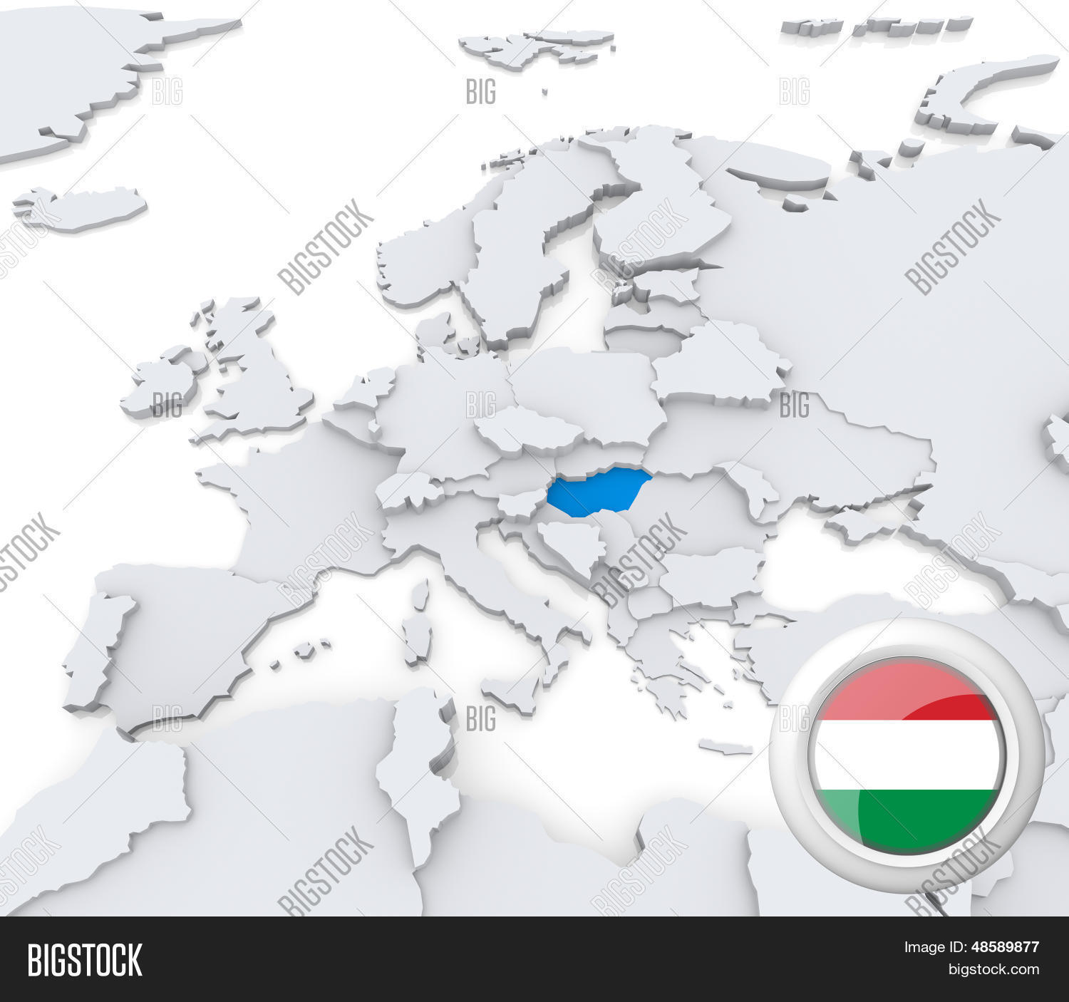 Picture of: Hungary On Map Europe Image Photo Free Trial Bigstock