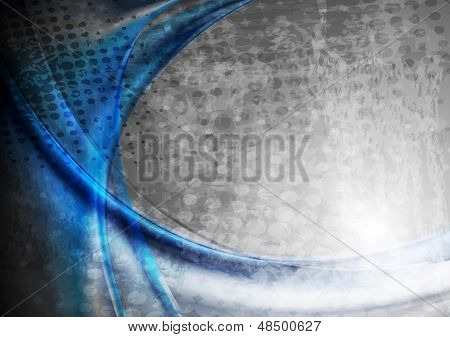 Grunge abstract waves background. Vector design eps 10