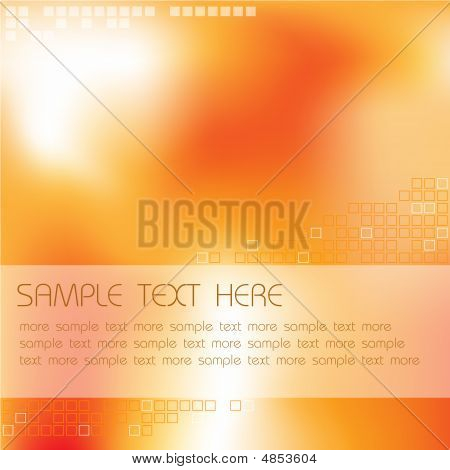 Abstract hot background with place for your text poster