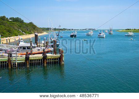 Boats Near Chatham Fish Pier