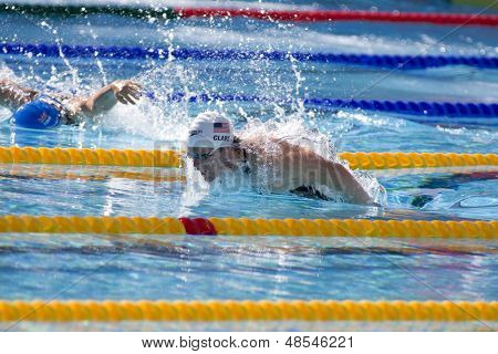 Jul 02 2009; Rome Italy; Scott Clary (USA) competing in the qualification round of the 400m individual medley at the 13th Fina World Aquatics Championships held in The Foro Italico Swimming Complex.
