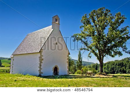 Old Stone Church On Kalnik Mountain