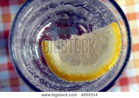 Refreshing Drink With Lemon