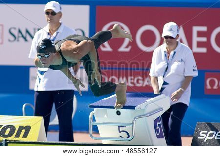 Jul 25 2009; Rome Italy; Blake Worsley competing in the men's 400m Freestyle at the 13th Fina World Aquatics Championships held in the The Foro Italico Swimming Complex.