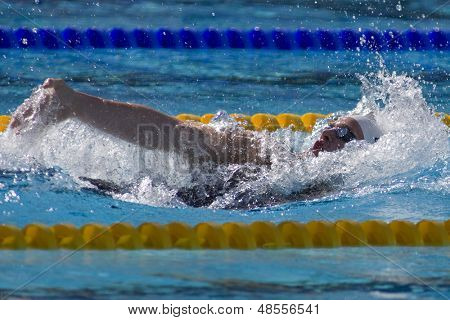 Jul 02 2009; Rome Italy; Scott Clary (USA) competing in the  400m individual medley at the 13th Fina World Aquatics Championships held in the The Foro Italico Swimming Complex.