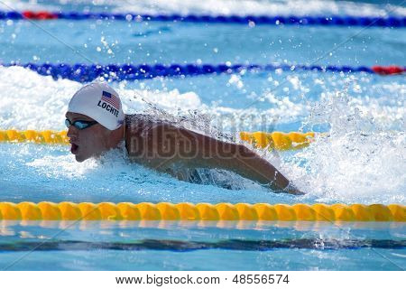 Jul 02 2009; Rome Italy; Ryan Lochte (USA) competing in the 400m individual medley at the 13th Fina World Aquatics Championships held in the The Foro Italico Swimming Complex