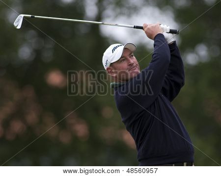 SAINT-OMER, FRANCE. 19-06-2010, Lee James (GBR) on the third day of the European Tour, 14th Open de Saint-Omer, part of the Race to Dubai tournament and played at the AA Saint-Omer Golf Club .
